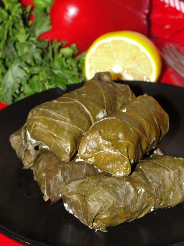 Dolma, a delicacy made with grape leaves
