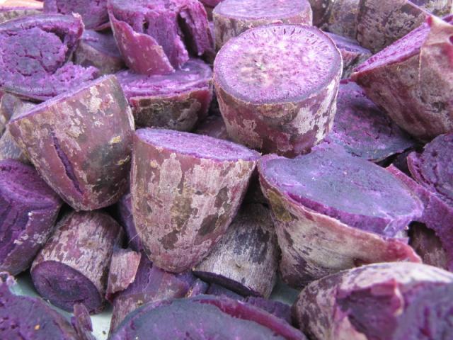 Purple sweet potatos, North Vietnam