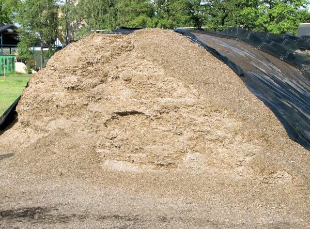 Open maize silo