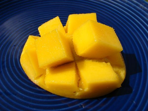 Mango fruit, flesh, Hawaii