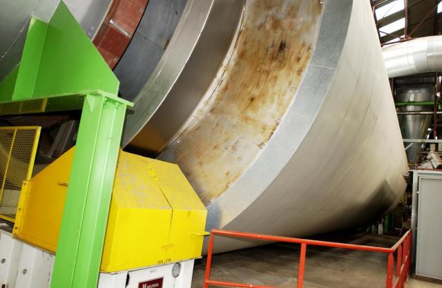 Drum drier for sugarbeet pulp