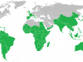 African spiderflower (Gynandra gynandropsis) distribution map